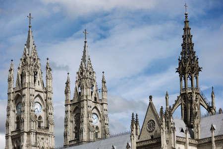 neo gothic: Towers of the Basilica del Voto Nacional