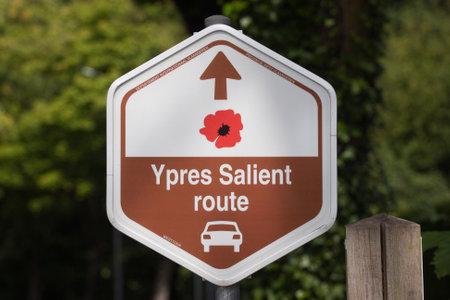 salient: Signpost Ypres salient route