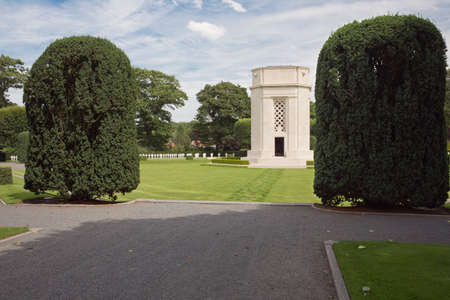 slag: Flanders Flied American Cemetery seen from the entrance