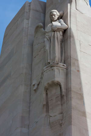 expeditionary: Angel sculpture on the Vimy Ridge memorial Editorial