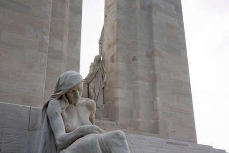 expeditionary: Statues on the Vimy Ridge memorial