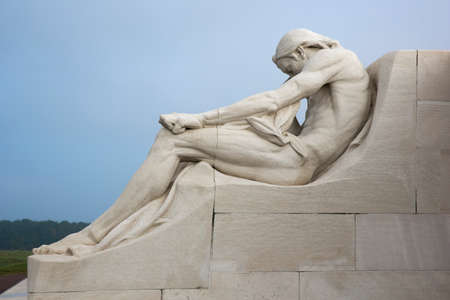 expeditionary: Male statue on the Vimy Ridge memorial Editorial