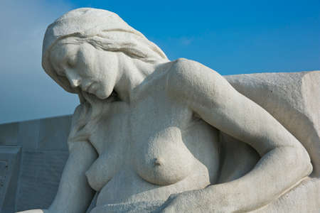 expeditionary: Female statue on the Vimy Ridge memorial