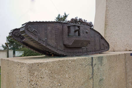ww1: One of the model tanks on the Tank memorial