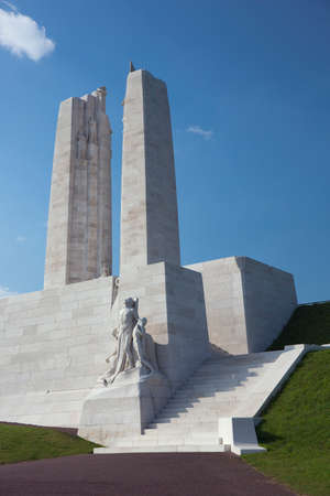 expeditionary: Side view of the Vimy Ridge memorial