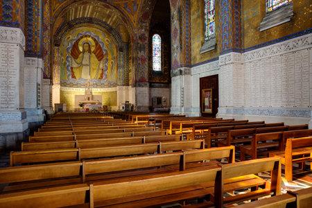 belgique: Inside view of the basilica Editorial