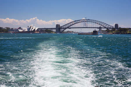 cahill: Leaving Sydney Harbour for Manly