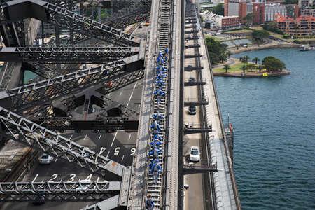 port jackson: Sydney Harbour Bridge climbers