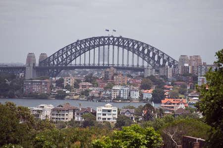 port jackson: A distant view of Sydney Harbour Bridge