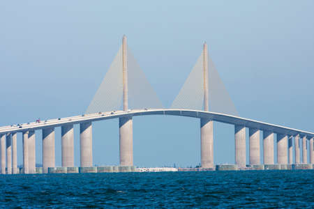 The Sunshine Skyway Bridge seen from Terra Ceia