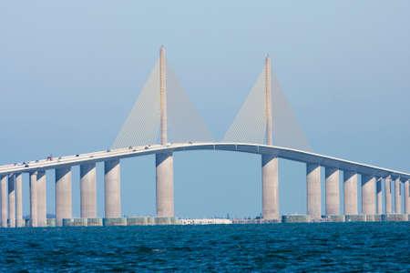 The Sunshine Skyway Bridge seen from Terra Ceia