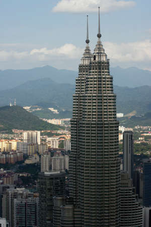 kl: Top of the Petronas Towers seen from the KL tower