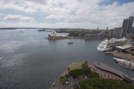 cahill: Wide view over Sydney Harbour