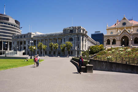 welly: Wellington Parliament and the Beehive