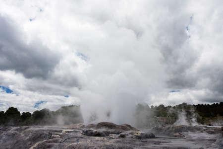 vents: Pohutu Geyser erupting from several vents