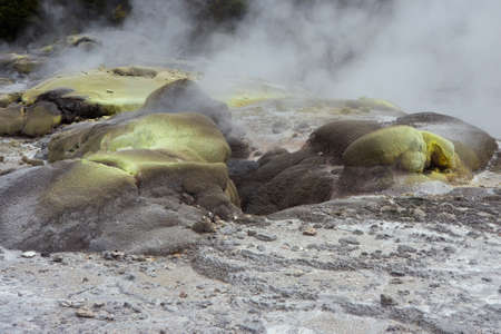 sulphur: Steam and sulphur deposits