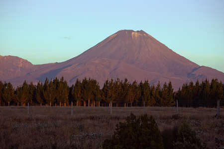 doom: Mount Doom seen from National Park at sunset