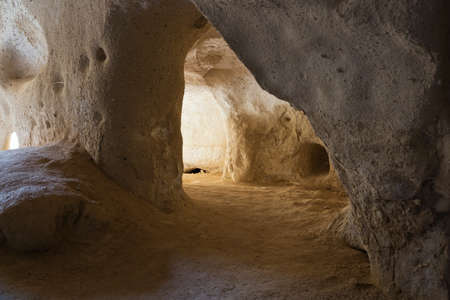 troglodyte: Inside an underground church in the Zelve Valley