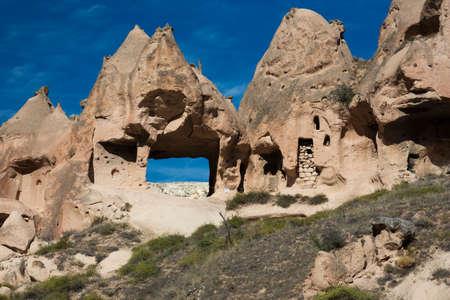 troglodyte: Troglodyte housing on a mountain ridge at the Zelve Valley