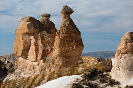 troglodyte: Animal shaped rocks in Fantasyland Stock Photo