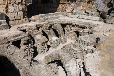 bathhouse: Heating system under the bathhouse of Perge