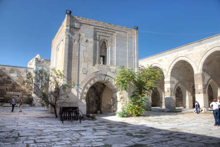 sultan: Inside the caravanserai of Sultan Han Stock Photo