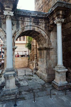 queen of sheba: Hadrians gate Stock Photo