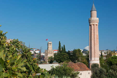 The Fluted Minaret rising high over the old town of Antalya