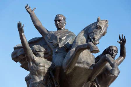 ataturk: Close-up of the Ataturk monment in Antalya Stock Photo