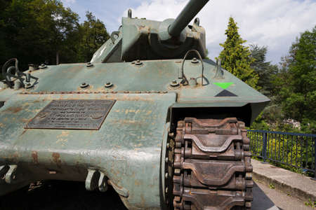 bulge: Frontal view of the tank destroyer Northampton