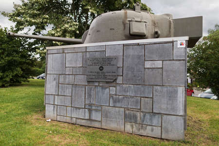 turret: Turret of a Sherman tank in Hotton