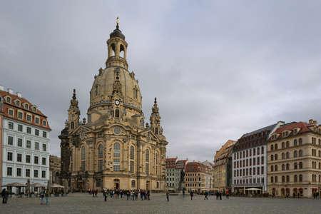 bombardment: Neumarkt with Frauenkirche in Dresden