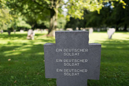 cemetary: A German soldier buried at the cemetary of Recogne Editorial