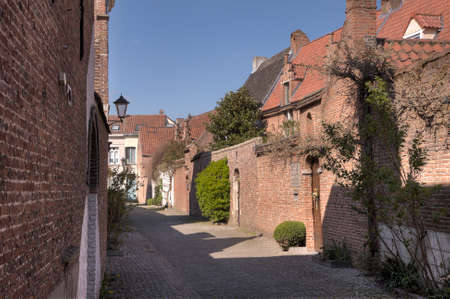 Little street in the small beguinage of Mechelen