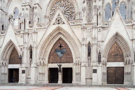neo gothic: Main entrance of the Basilica del Voto Nacional