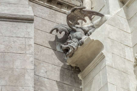 nacional: Demonic gargoyle on the Bacilica del Voto Nacional
