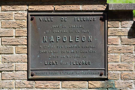 overnight: Brass commemorative plaque of Napoleons overnight