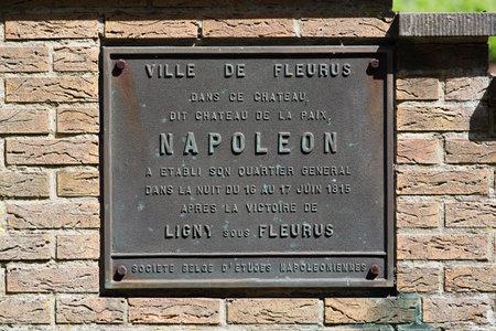 Brass commemorative plaque of Napoleons overnight
