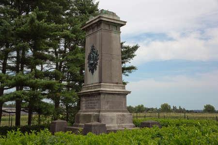 orange nassau: Side view the Brunswick monument near Quatre Bras