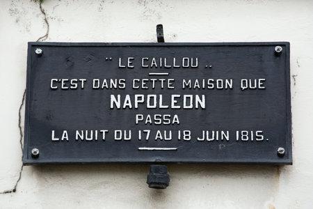 orange nassau: Commemorative plaque at Le Caillou farm