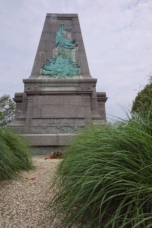 orange nassau: Monument to the Belgians at Waterloo