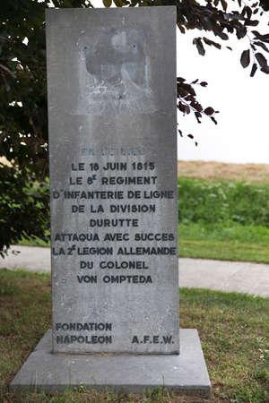 orange nassau: Commemorative stone near the Hanoverian monument