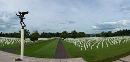 cemetary: Panorama of the Henri Chapelle american cemetary