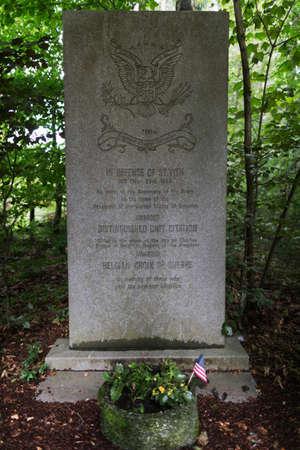 batallon: Monumento para el Combate del Batall�n Ingeniero 168o Foto de archivo
