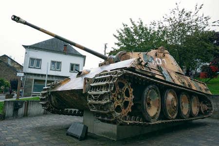 bulge: Panther mk5 tank in Houffalize Stock Photo