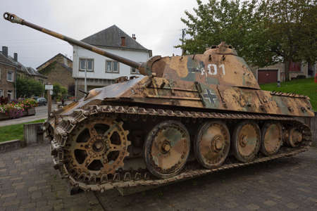 bulge: Side view of the Panther mk5 tank in Houffalize