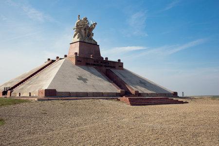 ww1: View on the ossuary monument La Ferme de Navarin Editorial
