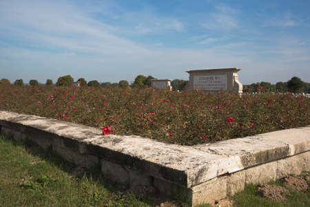 ww1: One of the ossuaries at the cemetery of Souain