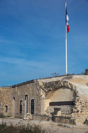 ww1: Entrance of Fort de Pompelle Editorial
