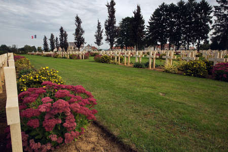 ww1: French war cemetery at Cerny-en-Laonnois